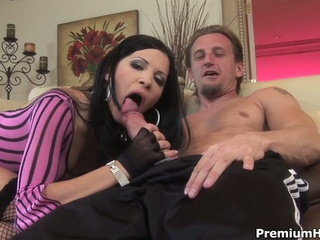 Horny rebecca receives all her holes fuck on