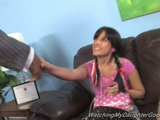 Daddy watches black wang fuck daughter chelsie rae