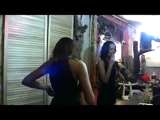 Russian girls naked at a party