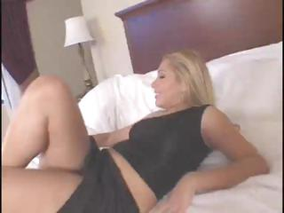 Blonde Latina babe Sasha Sans sucks and fucks a big dark dick