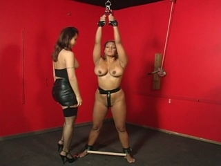 Bondage whores in heat with a huge vibrator