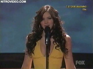 Hot Brunette Katherine McPhee Performing in American Idol