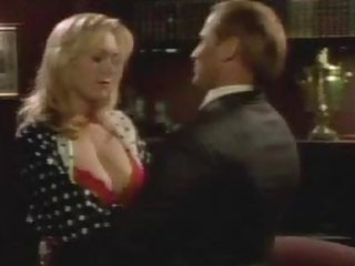 Naturally Busty Golden-haired Actress Carrie Yazel Wearing Hot Red Underware