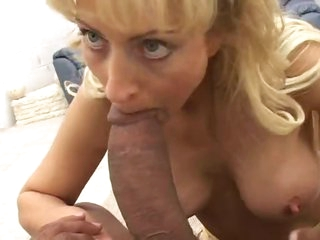 Giant black cock fucks this naughty mommy