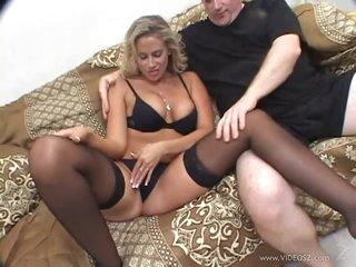 Horny Blonde MILF Kylie G Worthy Gets Screwed In an Interracial 3some