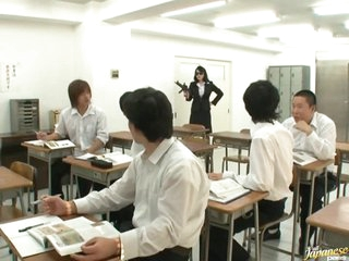Horny Teacher Natsumi Kitahara Receives Gangbanged by her Students