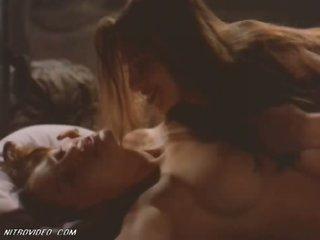 Hot Lesbian Sex Scene Featuring Lisa Boyle and Patricia Skeriotis
