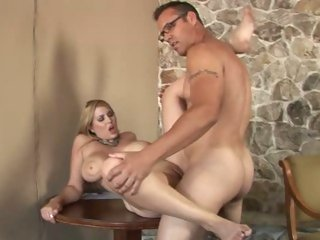 Busty Athena Pleasures gets her snatch pulverized