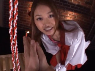 Amazing Asian Schoolgirl Giving a POV Blowjob