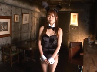 Beautiful Yuu Asakura Gets her Slit Finger Fucked in a Playboy Bunny Outfit