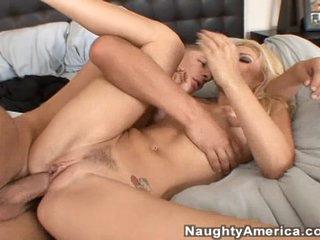 Monique Alexander lowers herself onto this lucky stiff's johnson
