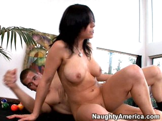 Beverly Hills gets a big load of hot cum sprayed into her mouth