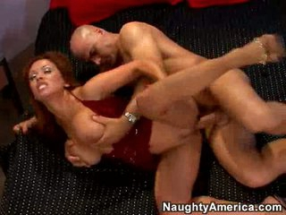 Filthy whore Sienna West gets the perfect team fuck on her twat til she cums