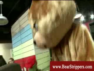 Cfnm teddybear stripper fucks bride