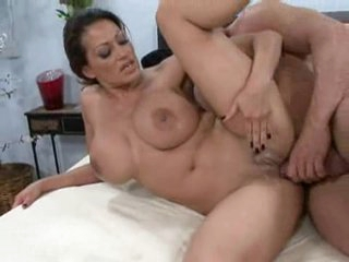During the time that playing with her massive tits, Ava Lauren takes a rough ramming