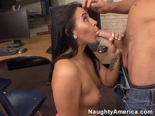 Big hard dick fills the mouth of the smoking sexy Alexa Jordan