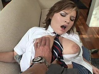 Enchanting schoolgirl, sucking, fucking and swallowing like a good girl