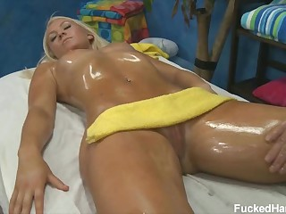 Sexy massage for 18 year old blonde hotty