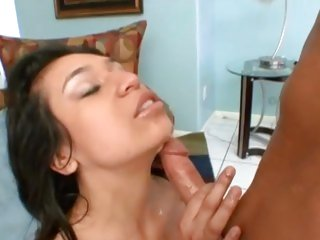 Valerie Hart gets her face drenched with warm cum