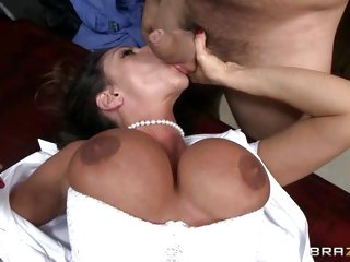 Tit fucking and sucking with hot Ariella Ferrera