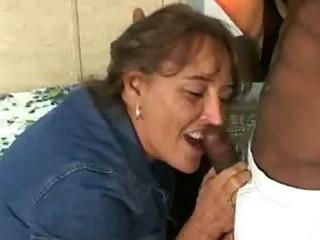Dirty fat wife fucks big black cock while husband films