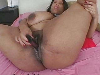 Busty Black BBW Ms Deja Masturbating