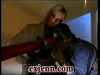 Blonde secret police girl sucking cock