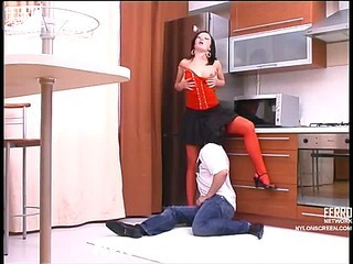 Gwendolen&Adam attractive nylon video