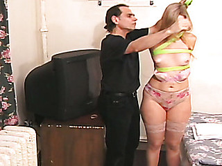 Precious playgirl receiving a slow flogging the tortured