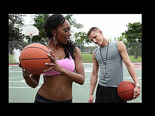 Erika's jump discharged is pretty weak. Good thing for her Enzo Lorenzo comes to the rescue. That Guy teaches her the ins and outs of basketball, and then jointly, they perform the ol' in-out.