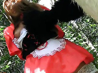 This is a story of a red riding hood, but it differs from the one u were told as a child :) The sexy teenage red riding hood was walking alone in the forest, and guess whom this babe met! No, it wasn't a wolf, it was a huge and horny panda bear! That Guy wasn't gonna eat her, all that guy wanted was a fun fuck. And as in a short time as the hotty saw panda's dong sex-toy, this babe decided to go for an xxx sex play with this gracious bear. After all, this babe loved kinky sex toys so much! This fairy tale has a glad ending as panda ...