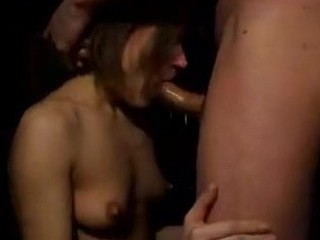 The guy in this clip doesn't seem very nice when his chick is giving it her all on the BJ and he pushes her head deeper with both hands. The bad boy in him turns her on and she puts her entire body into the head bobs!