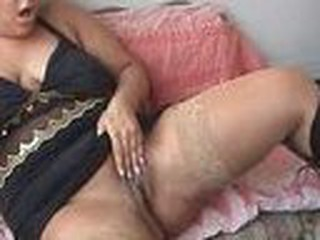 This blond girl with a voluptuous figure is busy getting her pussy off with her fingers and a vibrator. She gets off a couple times, sound is good.