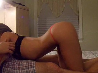 That chick really likes being filmed for a home porn video! Watch her teasing her boyfriend, blowing his big cock and having wild sex