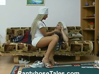 Sizzling sexy nurse can