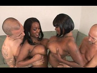 Stacy and Aline are sexy large titty black chicks that get down and smutty. They fuck dicks with their large bouncy marangos getting all that stud juice on their chesticles. U have to watch this massive mamery duet tag team to fortunate white dudes...