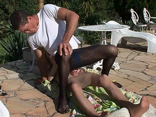 Having a thing for guys with a firm wazoo a kinky tgirl luring a muscle stud