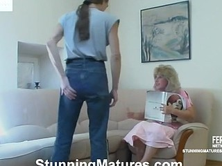 Lusty mother i'd like to fuck taking devastating pleasure from oral foreplay with penis-riding