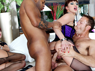 Rocco joins a threesome & the two beauties want to try a double anal!