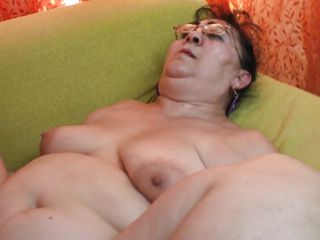 She's chubby, has a big hairy pussy and loves to get fucked deep and hard in sideways position so meet Lenora. We barely have enough space on that couch but I still manage to drill her pussy hard and make this woman moan with pleasure. Perhaps I should cum on her big belly and that hairy cunt soon