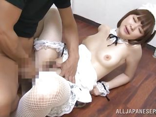 Konatsu has pale skin, natural titties and a pretty mouth that moans when her man takes care of that hairy pussy between her thighs. Although she is small and fragile this cunt likes a deep fuck and bends over with delight when it's about having a cock in her. Wouldn't her her ass look great with semen on it?