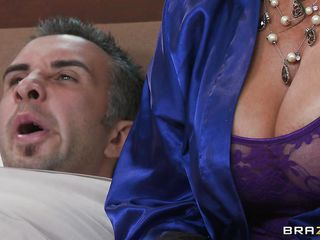 Vanilla DeVille caught her stepson Keiran masturbating, but rather than being revolted, she got turned on. So she asks him to do it again. He's kinda creeped out about it, but once she lets those tits out and starts rubbing herself, he gets a little more willing