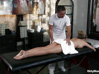 A really good deep and relaxing massage can take away lot of fatigue and tiredness from your body. on the other hand, you are so vulnerable in the hand of a masseuse. If he wants to he can so easily exploit you sexually. As, this guy is doing to his client. she is relaxed and has set her guard down