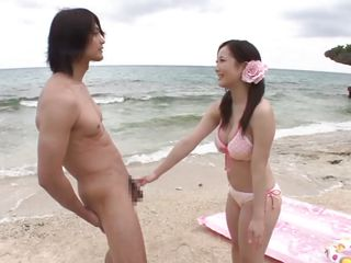 Eager for fucking the pretty Nippon chick Mao happily greets this boy's dick. Mao then bends over to get licked and fingered. Look at her how sweet she is when she kneels and sucks that cock. All that sucking made him want to fuck her deep from behind and perhaps at the end he will cum on those perfect breasts