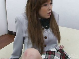 Cute school girl has a very small and tight pussy between her sexy thighs. I raised her skirt and she spread her hot legs offering my that sweet hairy pussy. At first I taunted her and gaped her pussy but slowly and steady I started to finger her pussy and make this slutty school girl moan with pleasure and lust