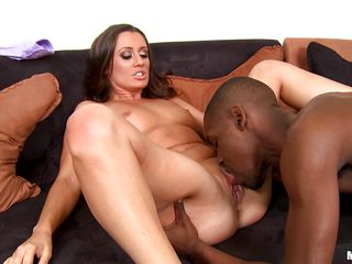 Horny MILF Brooklyn Jade always prefers black guys with their hard big dicks. And this whore scores again. Here she is getting her pussy licked by that guy and moaning with pleasure. After that, she puts a condom on that cock and starts riding on it like a slutty crazy cowgirl. Let's enjoy!