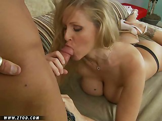 Super MILF Julia Ann is looking as sexy as ever and she just keeps getting hotter with every passing year.  She's got a big rack that can get any fellow hard, and she's always in the mood to get a valuable ham slamming in whatever position her man desires.