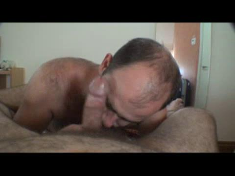 Older man is giving great blowjob
