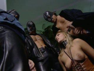 Blonde Slut Gets Double Penetration In A Wild Group Sex