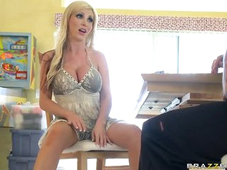 Horny and Breasty Blonde MILF Nikki Benz Screwed By a Big Dick